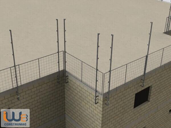proteção periférica alvenaria estrutural